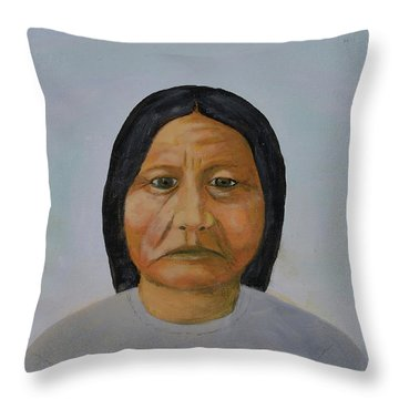 Chief Setting Bull Throw Pillow