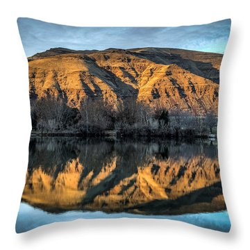 Chief Timothy Reflection Throw Pillow by Brad Stinson
