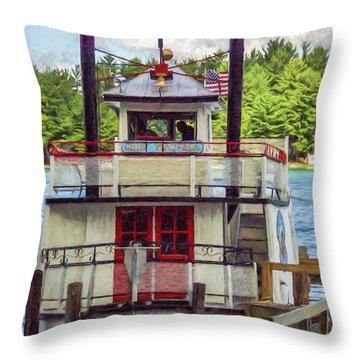 Chief Waupaca Throw Pillow by Trey Foerster