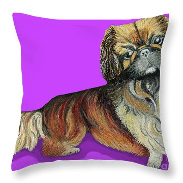 Chien Chien Pekingese Throw Pillow