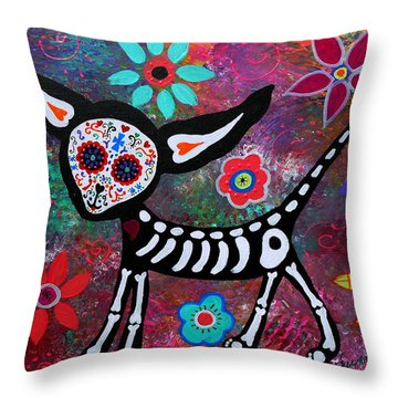 Chihuahua Dia De Los Muertos Throw Pillow