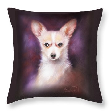 Throw Pillow featuring the drawing Chihuahua No. 1 by Patricia Lintner