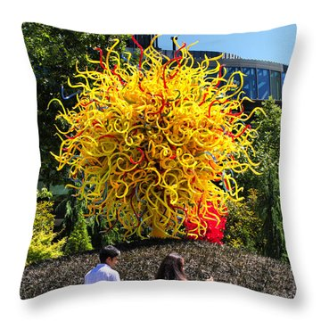 Throw Pillow featuring the photograph Chihuly Tree by Farol Tomson