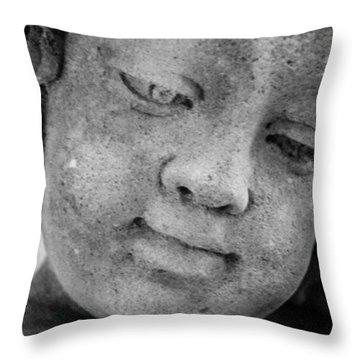 Child Gaze Throw Pillow