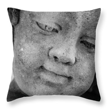 Child Gaze Throw Pillow