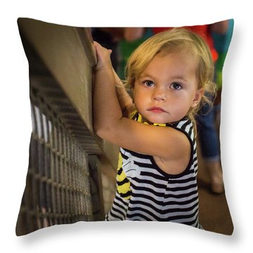 Throw Pillow featuring the photograph Child In The Light by Bill Pevlor