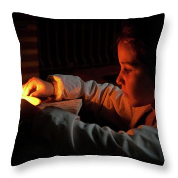 Child In The Night Throw Pillow