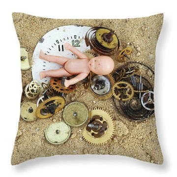 Child In The Time Throw Pillow by Michal Boubin