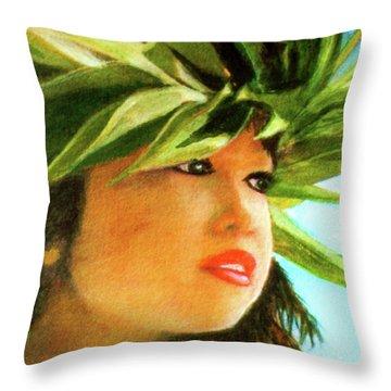 Child Keiki In Hawaiian No# 84 Throw Pillow by Donald k Hall