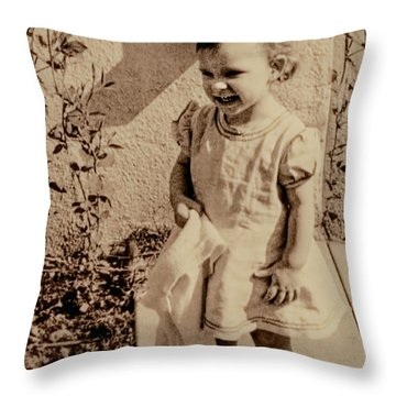 Throw Pillow featuring the photograph Child Of 1940s by Linda Phelps