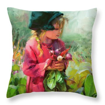 Child Of Eden Throw Pillow