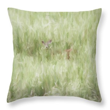 Child Of The Meadows Throw Pillow