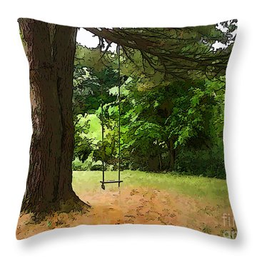 Throw Pillow featuring the photograph Childhood by Betsy Zimmerli