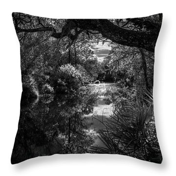 Childhood Creek Throw Pillow
