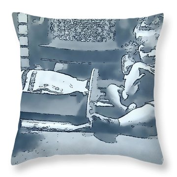 Throw Pillow featuring the photograph Childhood Memories by Linda Phelps