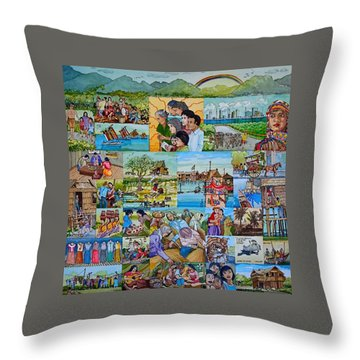 Childhood Memories Of My Mother Country Pilipinas Throw Pillow