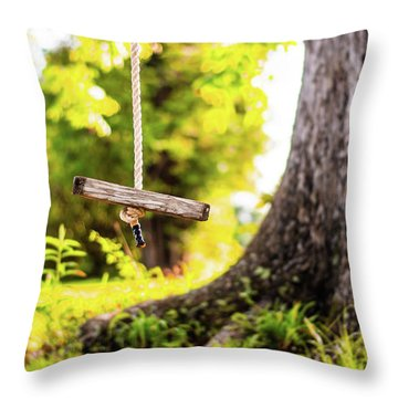 Throw Pillow featuring the photograph Childhood Memories by Shelby Young