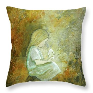 Childhood Wishes Throw Pillow by Terry Honstead