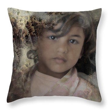 Throw Pillow featuring the photograph Childlike Faith by Kate Word