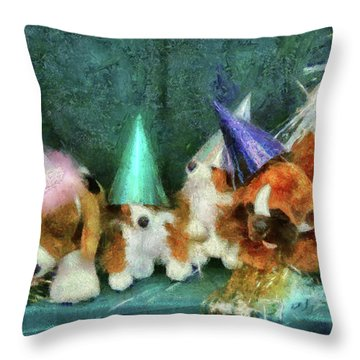 Children - Toys - Let's Get This Party Started Throw Pillow by Mike Savad