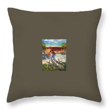Tres Cruces De La Juventud Y La Vejez Throw Pillow by Randy Burns