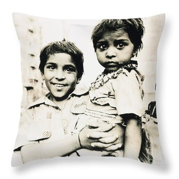Of Hope And Fear, Children In Mexico Throw Pillow