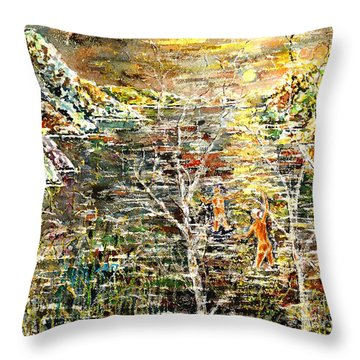 Children Of The Night Throw Pillow