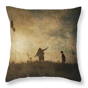 Children Playing Throw Pillow