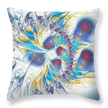Throw Pillow featuring the digital art Child's Play by Anastasiya Malakhova