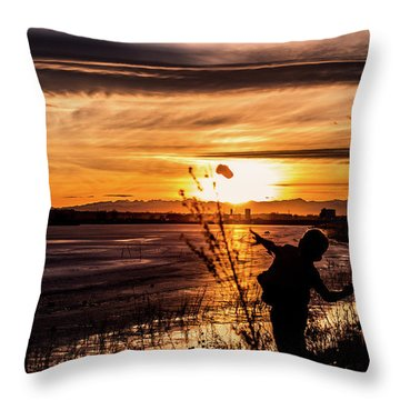 Throw Pillow featuring the photograph Childs Play by Tyson Kinnison