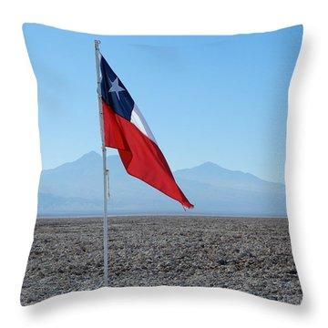 Chilean Flag Throw Pillow