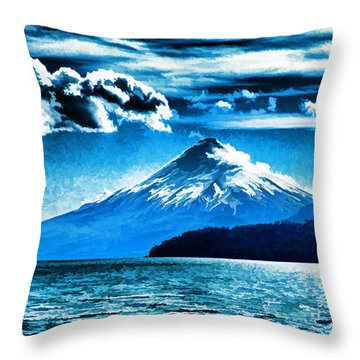 Chilean Volcano Throw Pillow by Dennis Cox