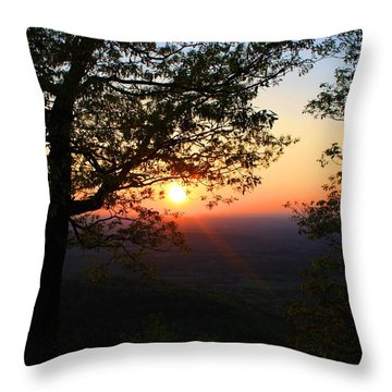 Throw Pillow featuring the photograph Chilhowee Sunset by Kathryn Meyer