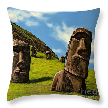Chile Easter Island Throw Pillow
