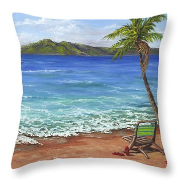 Chillaxing Maui Style Throw Pillow