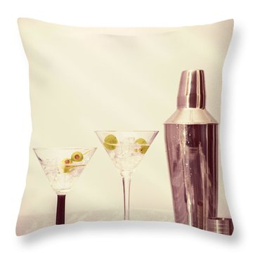 Chilled Martinis Throw Pillow