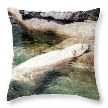 Chillin' Polar Bear Throw Pillow
