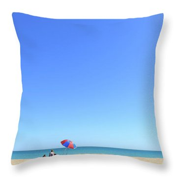 Throw Pillow featuring the photograph Chilling At Cable Beach by Chris Cousins