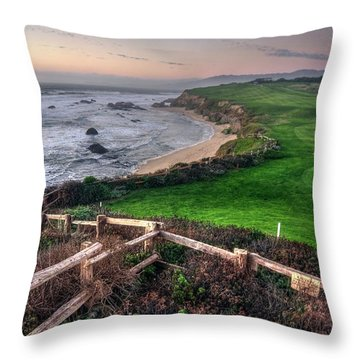 Throw Pillow featuring the photograph Chilling At Half Moon Bay by Peter Thoeny