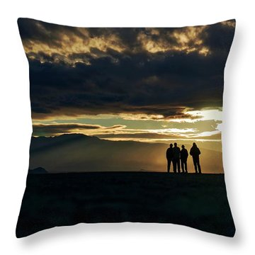 Throw Pillow featuring the photograph Chilling In The Desert by Peter Thoeny