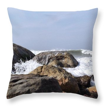 Three Oceans Meet Throw Pillow