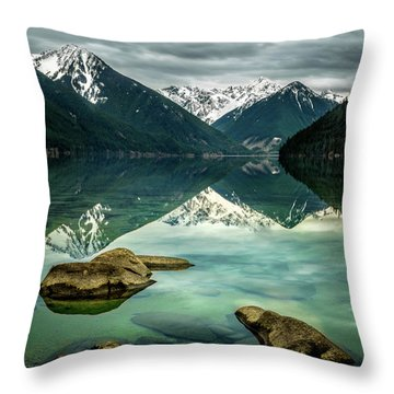 Chilliwack Lake Serenity Throw Pillow