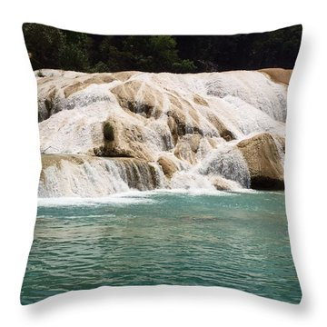 Chilon Waterfall. Throw Pillow
