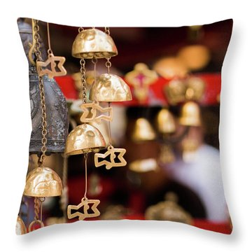 Chime Bell Throw Pillow