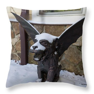 Chimera In The Snow Throw Pillow
