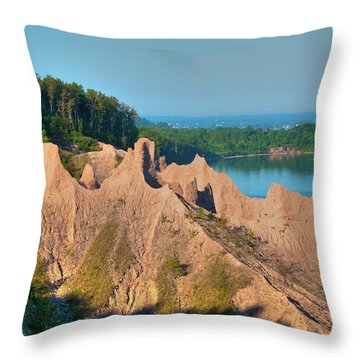 Chimney Bluffs 1750 Throw Pillow