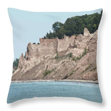 Chimney Bluffs Throw Pillow