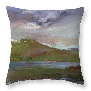 Chimney Rock  At Priest Lake  Plein Air Throw Pillow