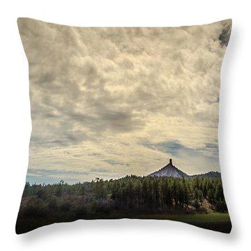 Chimney Rock Throw Pillow