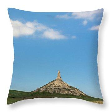 Chimney Rock Nebraska Throw Pillow